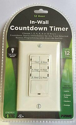 12 Hour In Wall Countdown Timer TNDIW012 New
