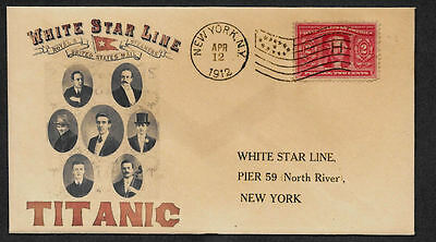 1912 Titanic Ad Reprint with 105 year old stamp on Collector's Envelope *A1087