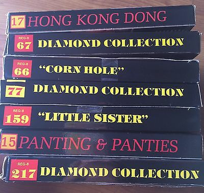 7 Vintage Diamond Collection 8mm Adult Film Lot #15 #17 #66 #67 #77 #159 #217