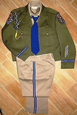 COMPLETE Official CHP California Highway Patrol UNIFORM-Jacket-Shirt-Pant-Tie