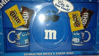 M&M's BLUE CHARACTER MUGS & CANDY DISH