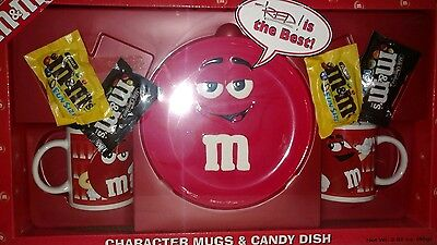 M&M's RED CHARACTER MUGS & CANDY DISH