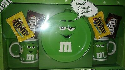 M&M's GREEN CHARACTER MUGS & CANDY DISH