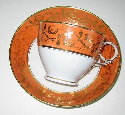 FLIGHT AND BARR RING HANDLE CUP AND SAUCER, outstanding condition