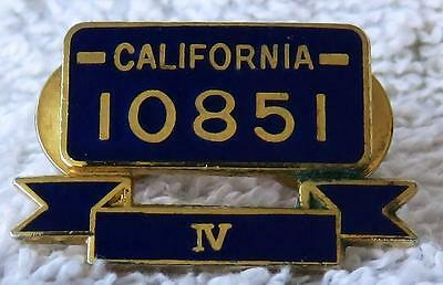 Official CHP California Highway Patrol 10851 IV Auto Theft Recovery AWARD PIN