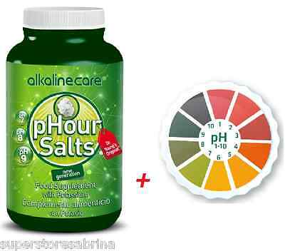 (Combo Pack) AlkalineCare Salts Phour In Capsules + 5M pH Paper Roll