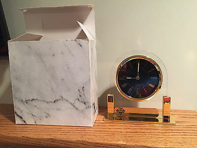 VINTAGE Keebler Gap Attack Advertising Glass Quartz Clock Black Gold NEW FREE SH