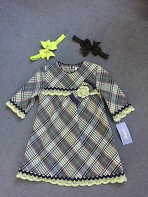 Tagged Spanish Babine Dress Rrp 42 And Matching Headbands