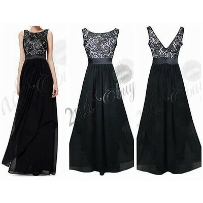 Women Formal Wedding Bridesmaid Long Evening Party Ball Prom Gown Cocktail Dress