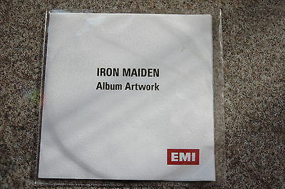 IRON MAIDEN SUPER RARE factory pressed album artwork promo disc