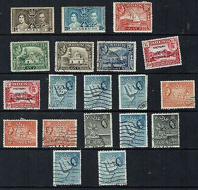 Aden Stamps      small mixed collection from   1939                        Aden5