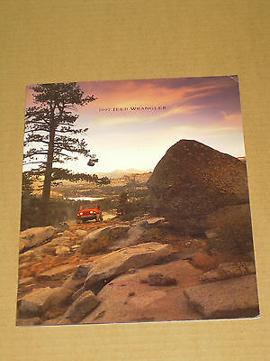 1997 Jeep Wrangler Brochure 20 Pages Nice!