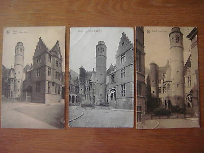 Lot de 3 cartes de GAND - GENT ( Achter Sickel )
