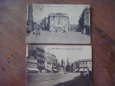 Lot de 2 cartes de VERVIERS