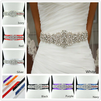 Crystal Bridal Sash, Wedding Dress Belt,, Rhiestone Bridal Sash Beaded Sash