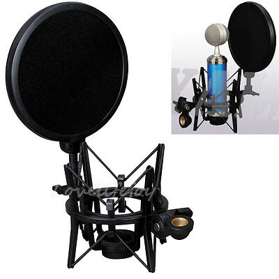 New Studio Recording Double Layer Microphone Wind Screen Pop Filter Mask Shield