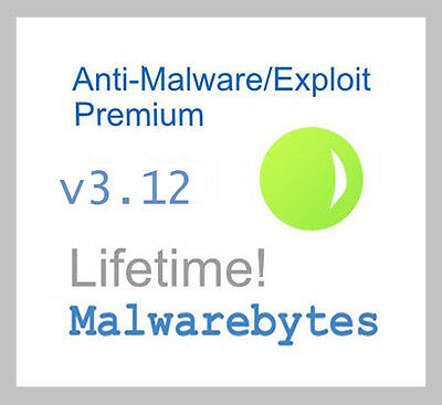 Malwarebytes AntiMalware/Exploit Premium v3.12 - Lifetime License - Genuine!