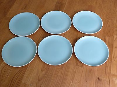 """Vintage Poole - Two Tone Ice Green - Side Plates 6.25""""-16cms"""