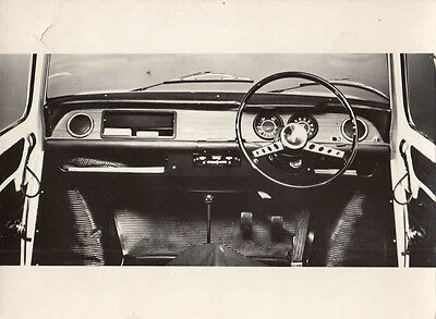 Renault 8, The New Dashboard Layout For 1968 Model, Period Photograph.