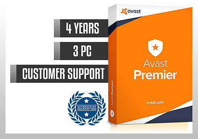 AVAST PREMIER 2017 4 YEARS 3 PC | License file