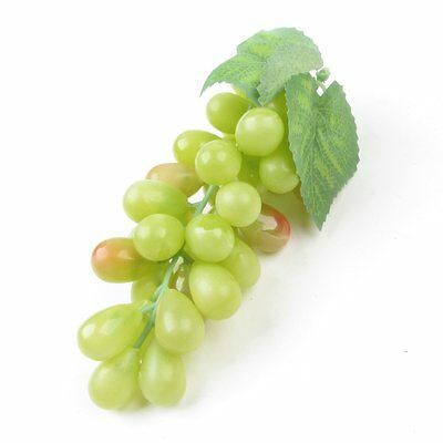 Artificial Plastic Fruit Grapes Cluster Home Office Decoration Green O4W8