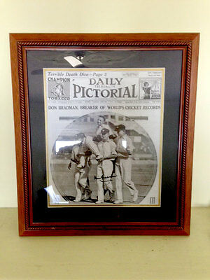 Don Bradman Daily Pictorial *hand Signed* Cricket_1948 Invincibles_Autographed