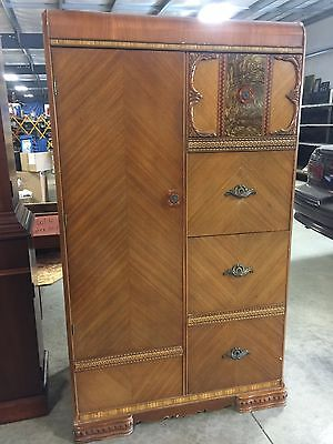 antique waterfall armoire wardrobe closet (local pickup only)