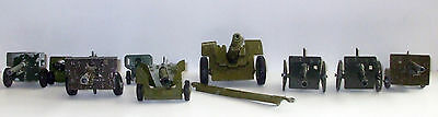 BRITAINS / CRESCENT WW11 DIECAST HOWITZERS LOT x9