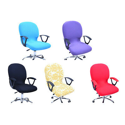 Spandex Cover Stretch Swivel Chair Sets Rotate Chair Office Computer Chair Cover