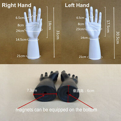 1 Pair of Male Mannequin Hand for Jewelry Bracelet Gloves Display RIGHT LEFT