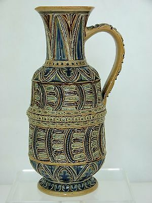 An Exquisitely Detailed Early Doulton Lambeth Pitcher by Frank Butler. 1874.