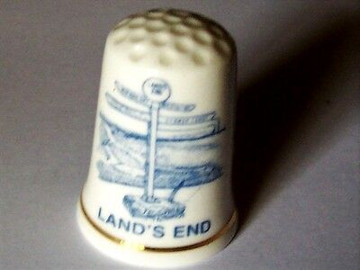 1 new bone china THIMBLE from LAND'S END - ENGLAND