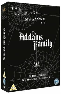 The Addams Family The Complete Series 1-3 DVD box set. New sealed.