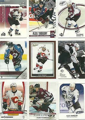 Alex Tanguay - 9  Different Trading Cards .
