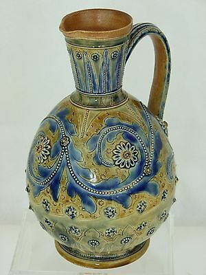 A Very Fine Example of a Doulton Lambeth Ewer by Arthur Barlow. 1875.
