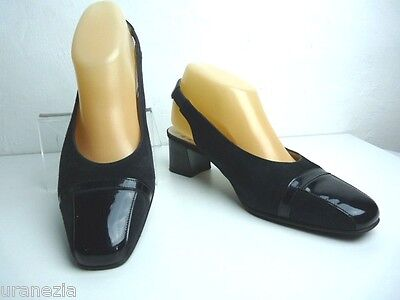 Court shoes CORINE Suede and Black Patent Leather T 37.5 VERY GOOD CONDITION