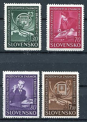 Slovakia Ww2 German Puppet State 1942 Scott 70-73 Perfect Mnh