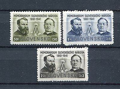 Slovakia Ww2 German Puppet State 1941 Scott 62-64 Perfect Mnh