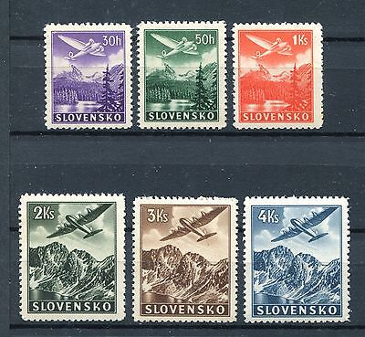 Slovakia Ww2 German Puppet State 1939 Scott C1-C6 Perfect Mnh