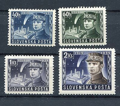 Slovakia Ww2 German Puppet State 1939 Scott 34-37 Perfect Mnh