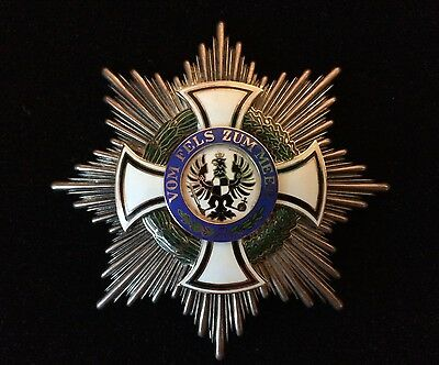 Prussian House Order Of Hohenzollern Imperial Commander Breast Star By Godet