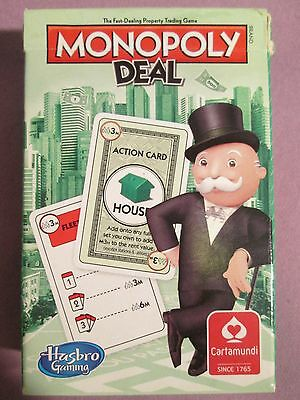MONOPOLY DEAL PLAYING CARD GAME - by Hasbro / Cartamundi, Morrisons,New & Sealed