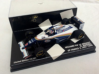 MINICHAMPS 1/43 Williams FW16 Renault MANSELL GP France 1994