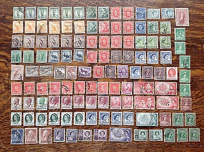 Collection Of Old Australia Stamps Used