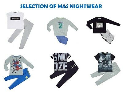 "Boys Girls Kids ""Ex M&S"" Nightwear Pyjamas Sleepwear - 6 Designs To Choose From"