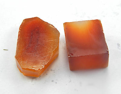 91.90 CTS. 100% NATURAL CARNELIAN GEMSTONE 18x20-20x29 MM UNPOLISHED ROUGH 2 PC.