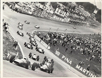 The Start At Spa 1966 Period Photograph.