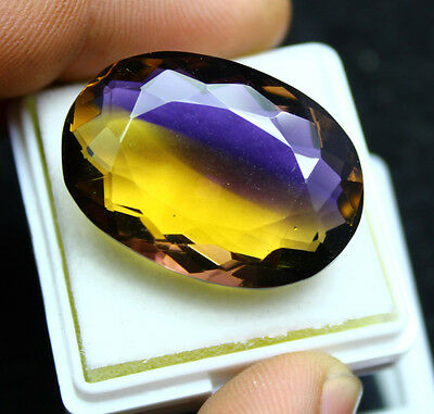 EGL-CERTIFIED 54.55Ct AMAZING GOLDEN PURPLE AMETRINE GEMS ~ PENDENT SIZE #906