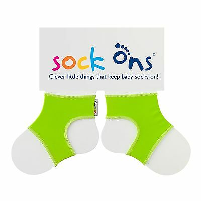 Sock Ons Bright Lime Green Baby Accessories - Keep Socks on Feet! | 0-6 Months