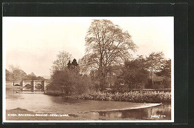 tolle AK Bakewell, View of the Bridge